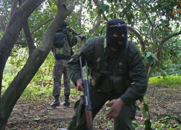 Бой с боевиками идет в районе Ингушетии, где расстреляли милиционеров