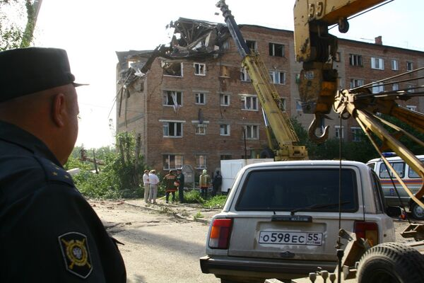 Взрыв в общежитии в Омске
