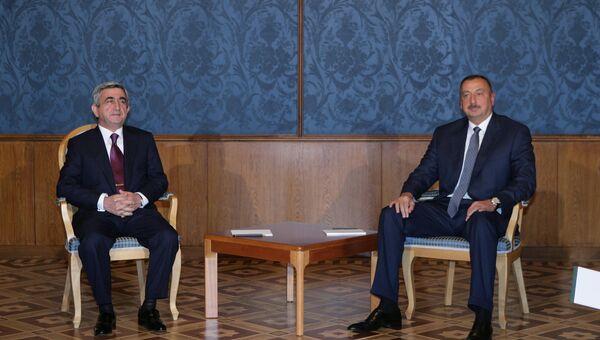 Встреча президентов Азербайджана и Армении. Архивное фото