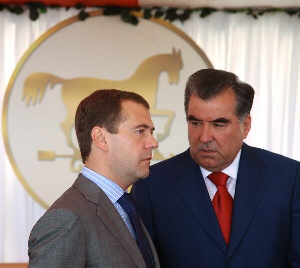 Лидеры РФ и Таджикистана обсудят сотрудничество двух стран