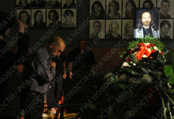 Церемония прощания с российским композитором Павлом Смеяном в Ленкоме
