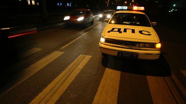 Патрульная автомашина ДПС в Москве. Архивное фото