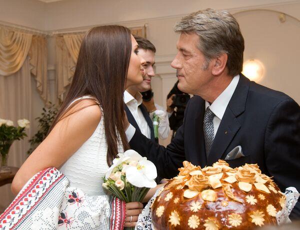 Регистрация брака старшего сына Президента Украины Андрея Ющенко и Елизаветы Ефросининой