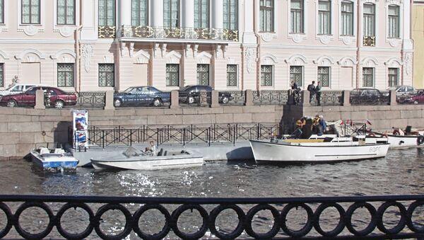 Пристань на реке Фонтанке в Санкт-Петербурге. Архивное фото