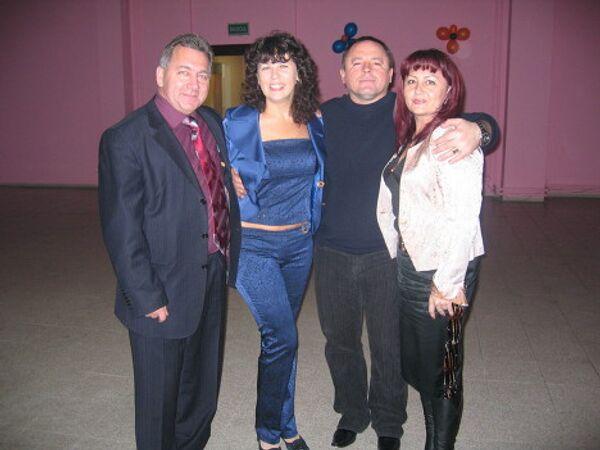Сергей Егоров и Игорь Ткаченко с женами