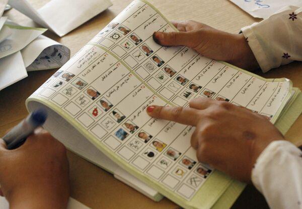 Результаты проверки бюллетеней на выборах в Афганистане переданы в ЦИК