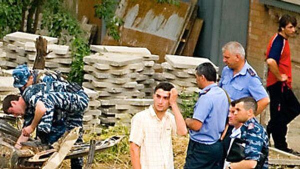 Оперативная группа на месте взрыва в Грозном