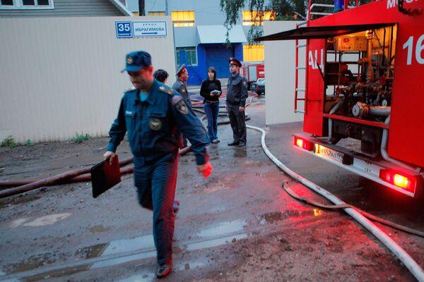 Пожар на Тимирязевском рынке в Москве потушен - МЧС