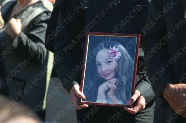 Похороны погибших в теракте 1 сентября 2004 года