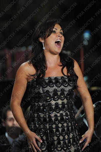 Анна Нетребко на концерте Великие голоса России