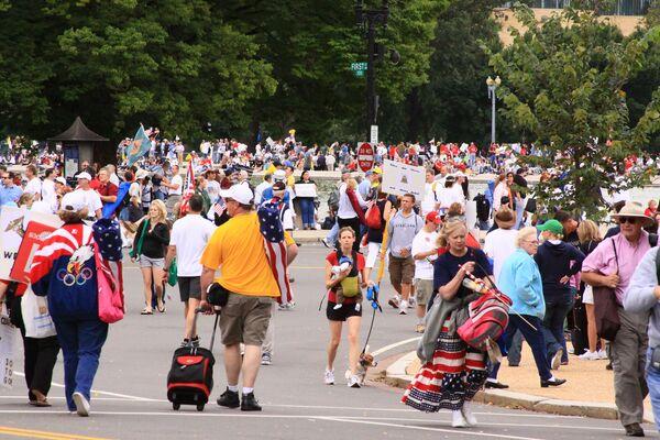 Демонстрация против экономической политики Обамы прошла в Вашингтоне