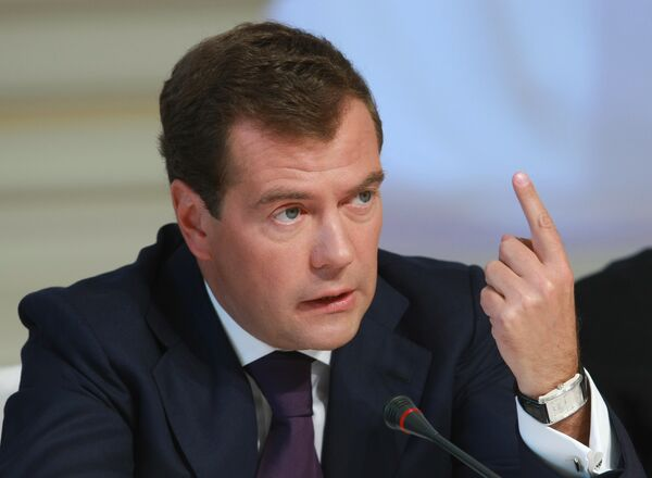 Медведев встретится в США с Меркель и Хатоямой - Кремль
