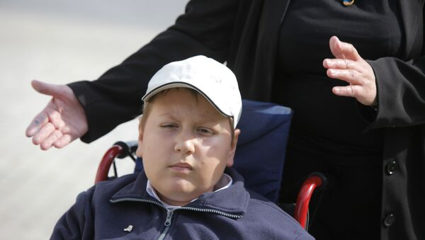 Ученик 5-го класса инвалид детства Кирилл Дроздков
