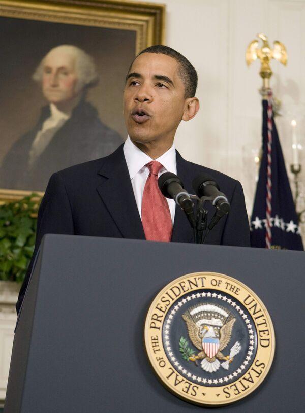 Барак Обама во время выступления, посвященного размещению системы ПРО в Европе