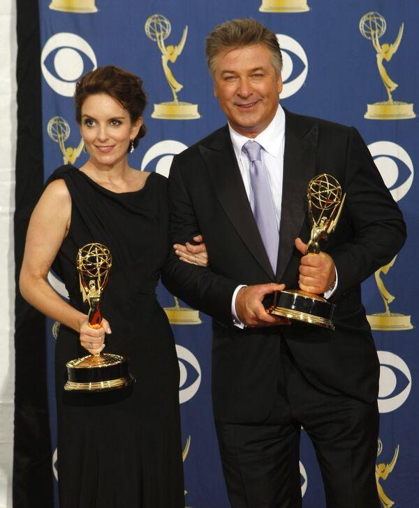 Алек Болдуин и Тина Фей на церемонии вручения премии Эмми