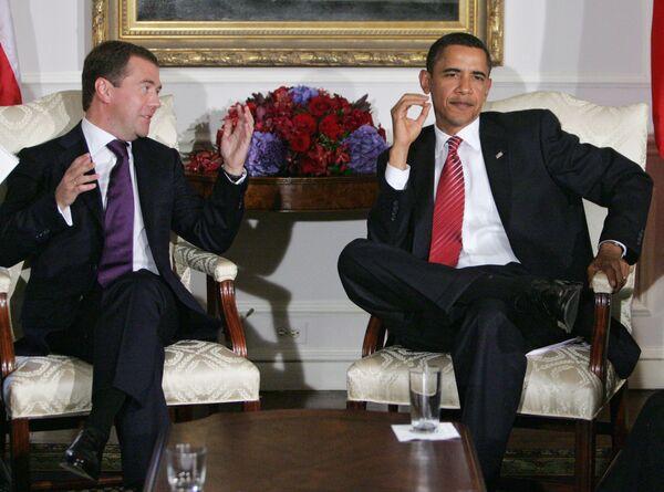Встреча президентов России и США Д.Медведева и Б.Обамы в Нью-Йорке