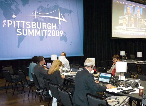 В пресс-центре саммита G20