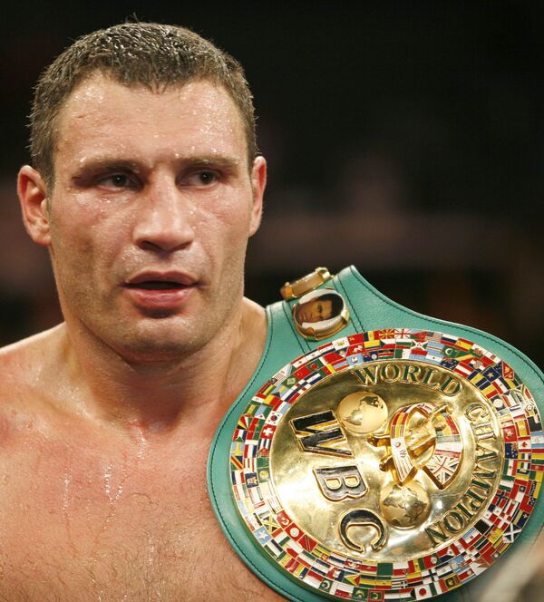 Украинский боксер Виталий Кличко