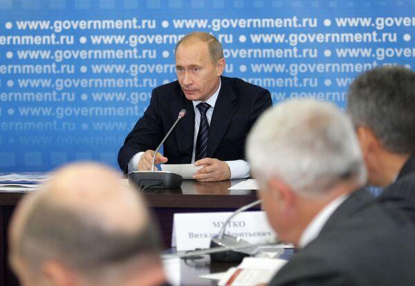 Премьер-министр РФ Владимир Путин провел совещание во Владимире