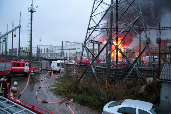 Пожар на подстанции в Москве не нарушил энергоснабжение