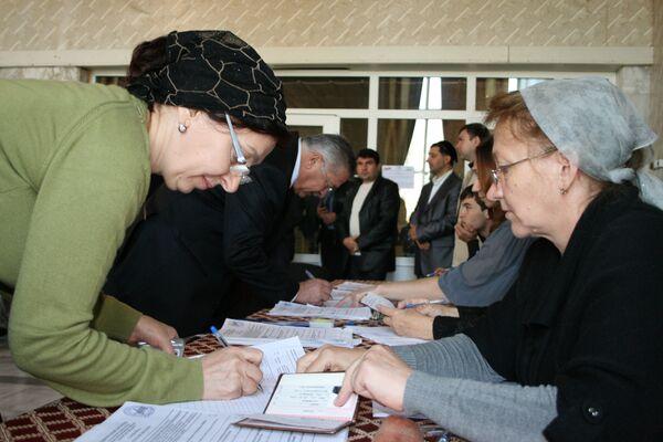 На одном из избирательных участков в городе Назрани