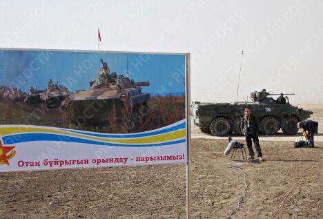 На учениях Взаимодействие- 2009 в Казахстане