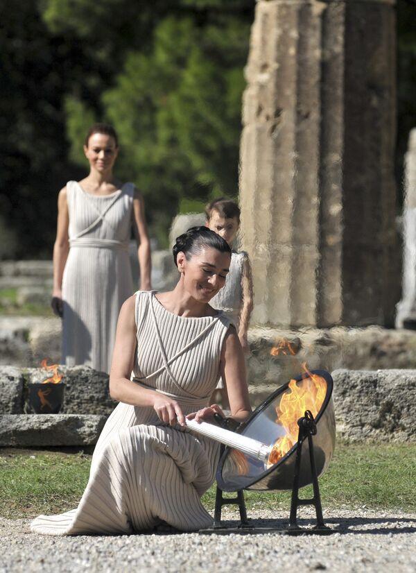 Церемония зажжения огня Игр-2010