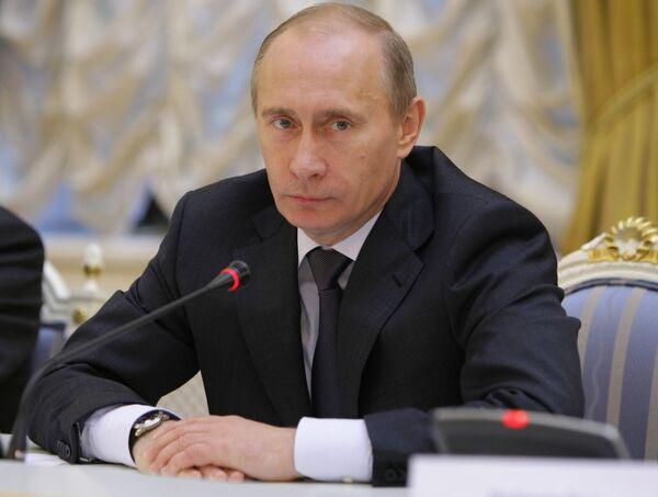 Премьер-министр РФ Владимир Путин встретился с представителями германских деловых кругов