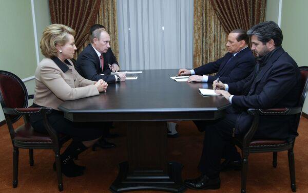 Премьер-министр РФ Владимир Путин встретился с премьер-министром Италии Сильвио Берлускони