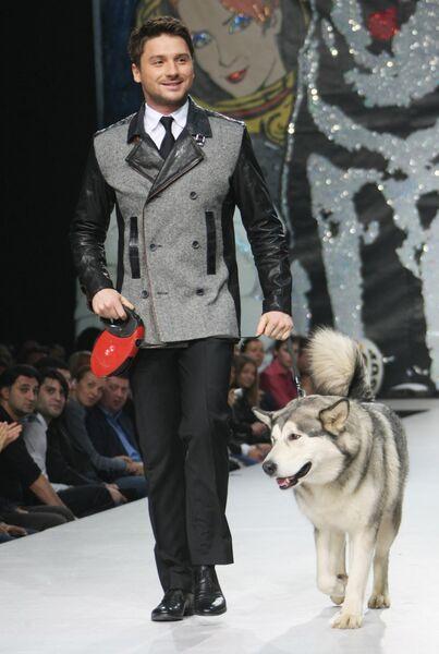 Певец Сергей Лазарев на закрытии Volvo-Недели моды в Москве