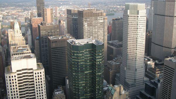 Нью-Йорк. Небоскребы в центральной части Манхэттена.