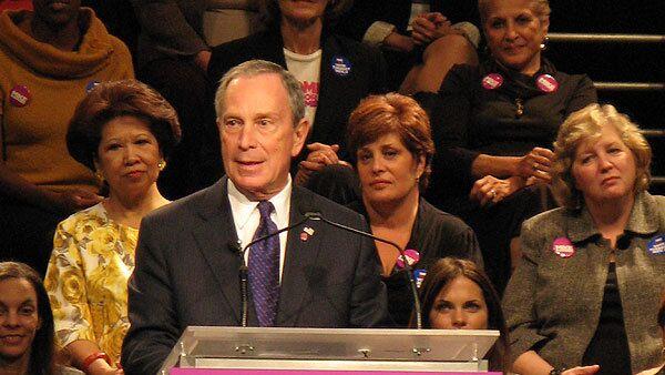 Майкл Блумберг на встрече с избирателями