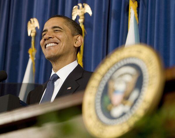 Президент США Барак Обама во время выступления на конференции представителей коренных народов США Барак Обама