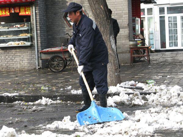 Снегопад в Китае. Архив