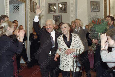 Михаил Ульянов и Алла Парфаньяк