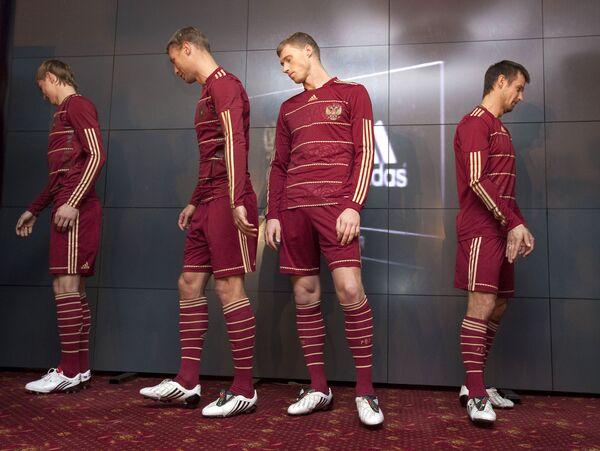 РФС и Adidas представили новую форму сборной России по футболу