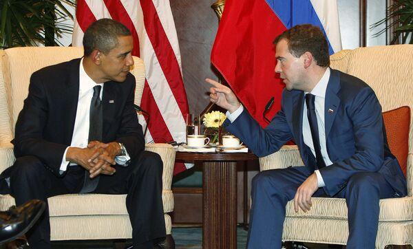 Встреча Дмитрия Медведева и Барака Обамы на саммите АТЭС в Сингапуре