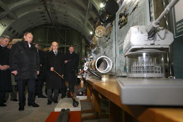 Премьер-министр РФ Владимир Путин посетил ФГУП Конструкторское бюро машиностроения в Коломне