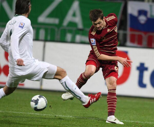 Футбол. ЧМ-2010. Стыковой матч. Словения - Россия