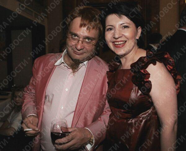 Роман Трахтенберг со спутницей на праздновании 45-летия радиостанции Маяк