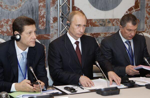 Премьер-министр РФ Владимир Путин принял участие XIV заседании Российско-Французской комиссии