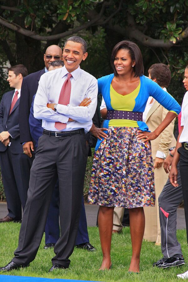 Президент США Барак Обама с женой Мишель. Архив