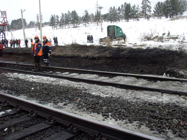 Железнодорожная авария. Архив