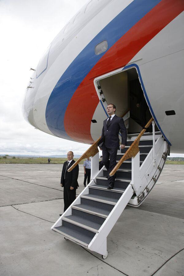 Медведев прибыл в Италию с рабочим визитом