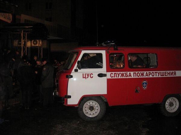 Пожар в кафе Хромая лошадь в Перми