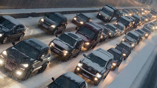 Число ДТП в Москве из-за снегопада выросло в полтора раза