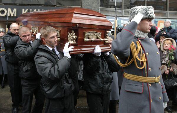 Прощание с актером Вячеславом Тихоновым