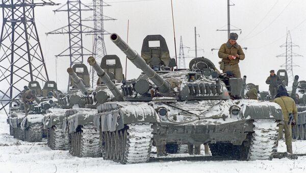 Ввод российских войск в Чечню в 1994 г, архивное фото