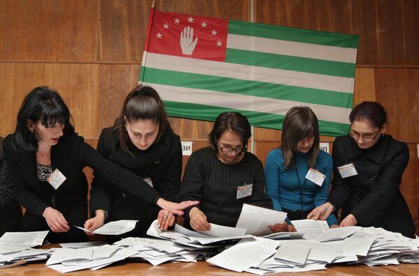 Лига За честные выборы признала итоги выборов президента Абхазии