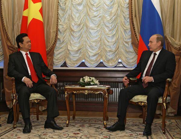 Встреча премьер-министров РФ и Вьетнама Владимира Путина и Нгуен Тан Зунга